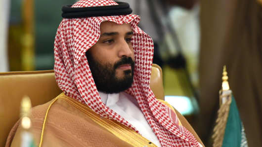 Saudi Deputy Crown Prince, Defence Minister and Chairman of the Council for Economic and Development Affairs Mohammed bin Salman.