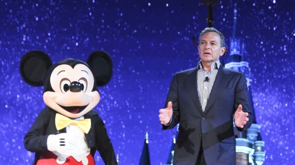Robert A. Iger, Chairman and Chief Executive Officer of The Walt Disney Company, attends the unveilling ceremony of six themed parks of Shanghai Disney Resort at Shanghai Expo Center on July 15, 2015 in Shanghai, China.