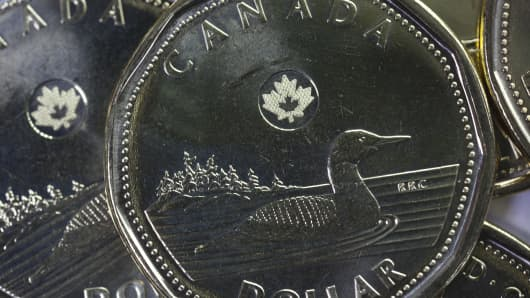 Canadian dollar, also known as the loonie