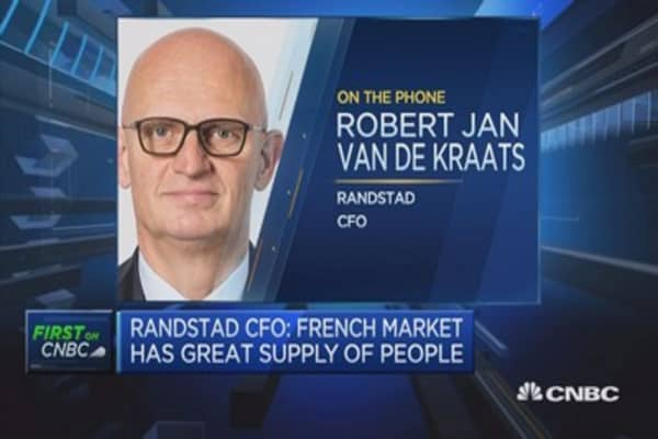 We are dependent on the strength of the French economy: Randstad CFO