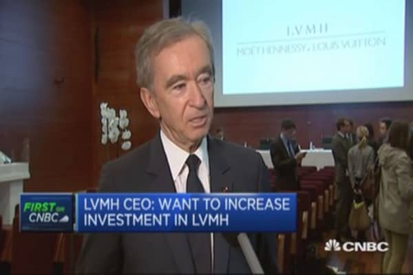LVMH CEO: Want to increase investment in LVMH