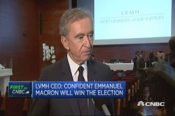 LVMH CEO: Confident Macron will win the election