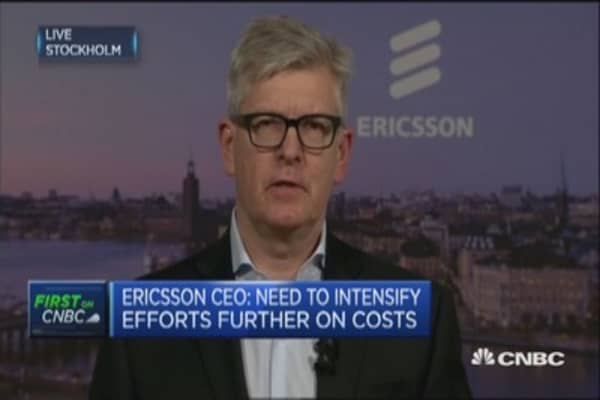 Ericsson CEO: See no reason to change our forecast