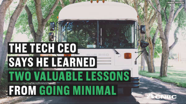 The two lessons this tech CEO learned from living in a bus for 5 months