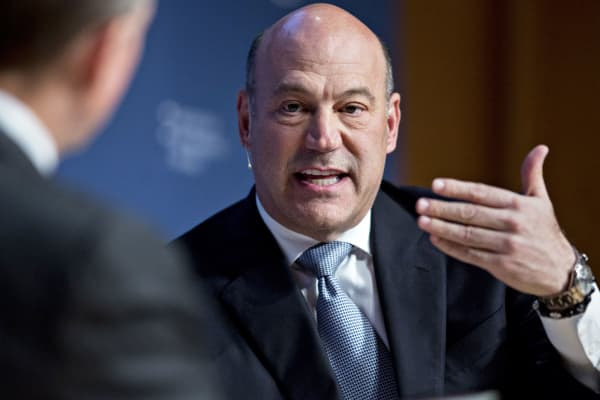 Gary Cohn, director of the U.S. National Economic Council, speaks during a discussion at the Institute of International Finance (IIF) policy summit in Washington, D.C.