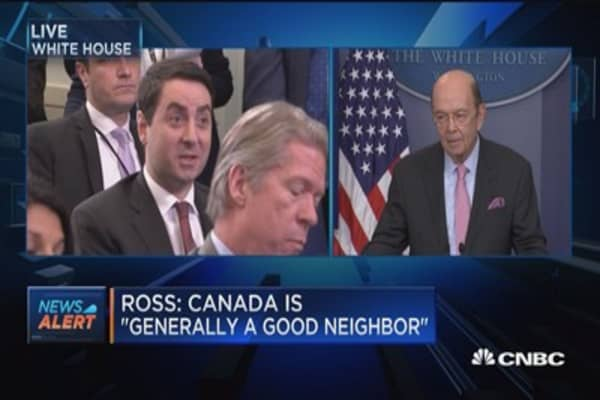 Sec. Ross: We don't think this will start a trade war with Canada