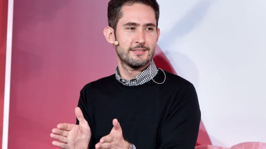 Instagram Co-Founder and CEO Kevin Systrom speaks onstage at the inaugural Girlboss Rally on March 4, 2017 in Los Angeles.