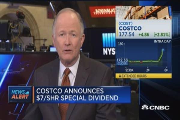 Costco announces $7/share special dividend