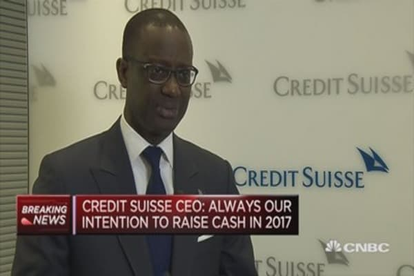 Always question to rase XXX bn in 2017: Credit Suisse CEO