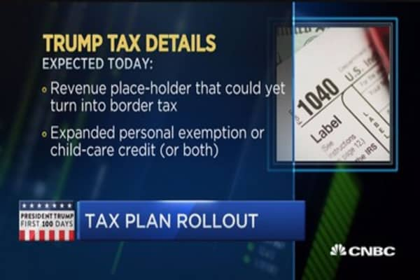 Trump to unveil tax plan today at the W.H.