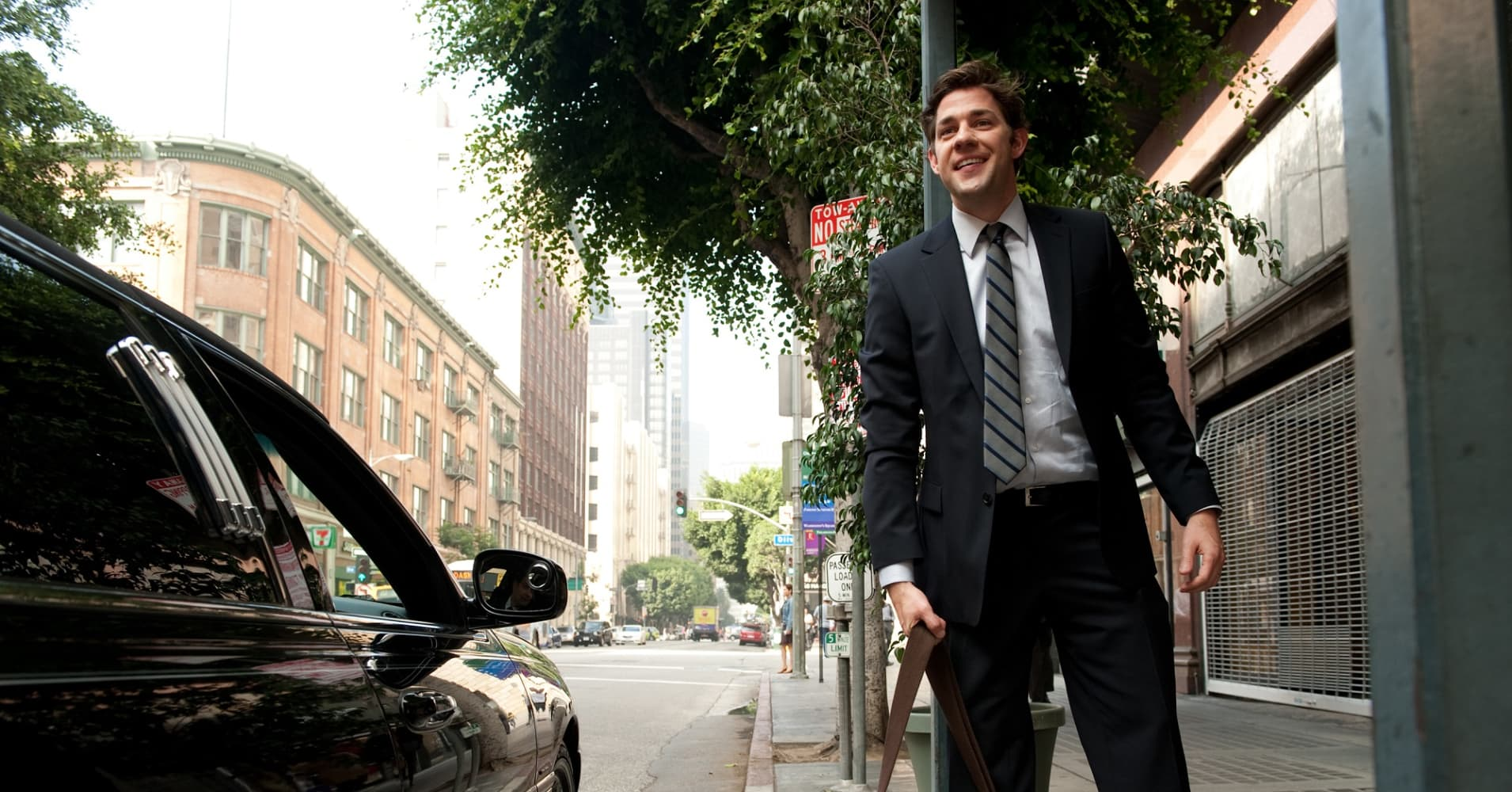 "Jim Halpert, fictional character on NBC's ""The Office"" played by John Krasinski, gets ahead in his career because of his great people skills."