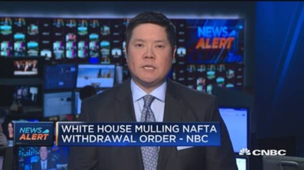 White House mulling NAFTA withdrawal order: NBC