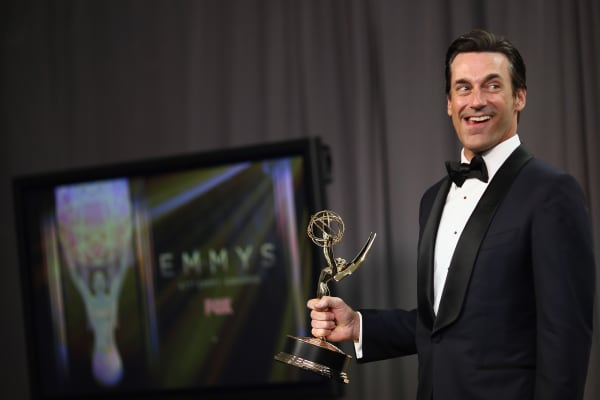 Actor Jon Hamm, winner of Outstanding Lead Actor in a Drama Series for 'Mad Men'