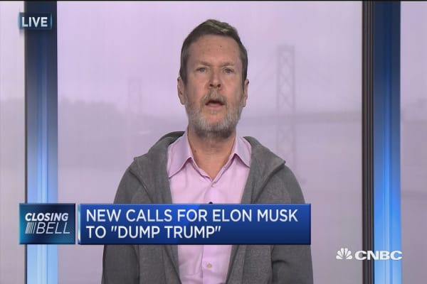 New calls for Elon Musk to 'dump Trump'