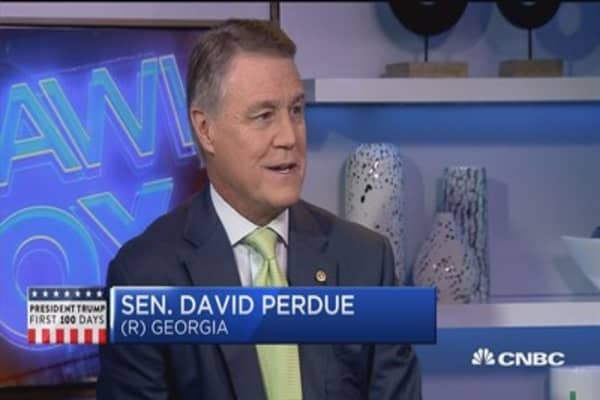 Sen. Perdue:Encouraged by Trump tax plan