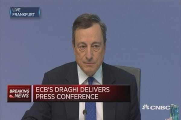 ECB's Draghi: Downside risks further diminished