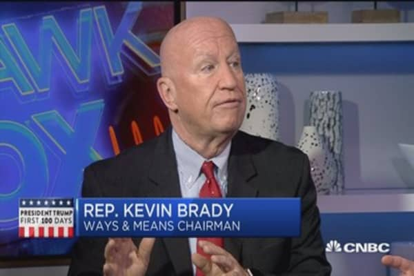 Rep. Brady: Clear we want to work with W.H. on tax plan