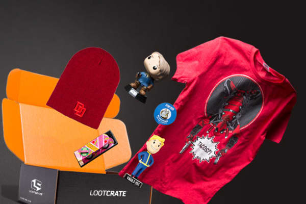 Five-year-old Loot Crate is an LA-based subscription service that delivers monthly boxes of nerdy memorabilia to geeks and gamers.