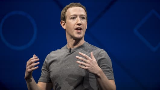 Mark Zuckerberg chief executive officer and founder of Facebook Inc. speaks during the F8 Developers Conference in San Jose California U.S. on Tuesday