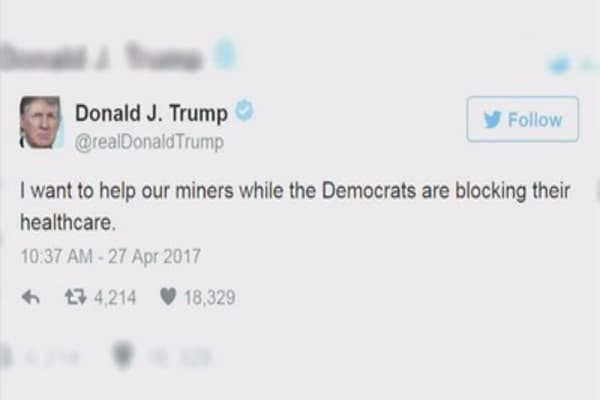 Tweeting Trump lashes out at Democrats ahead of congressional vote