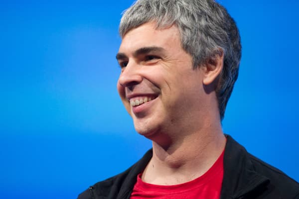 Larry Page, CEO of Google's parent, Alphabet.