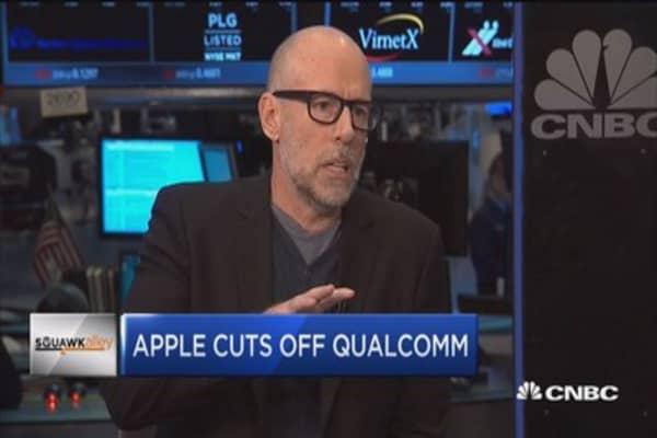 Apple cuts off Qualcomm