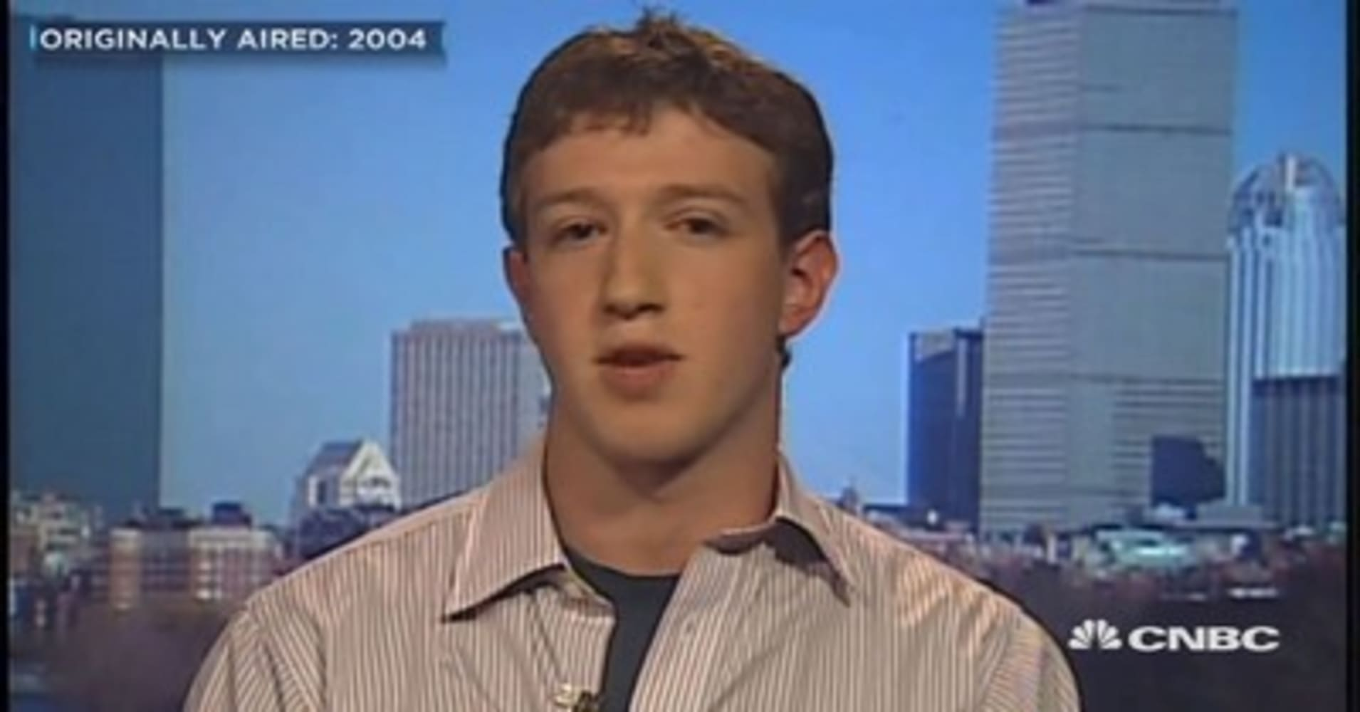 Here's Mark Zuckerberg's first-ever TV interview from 13