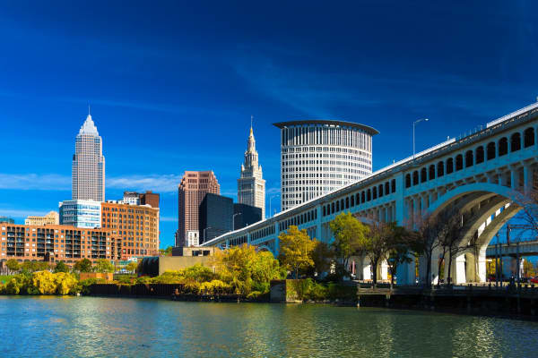 Downtown in Cleveland, Ohio