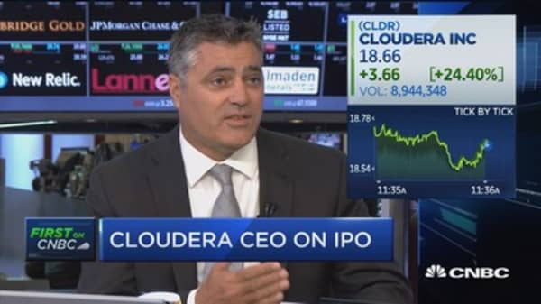 Cloudera Ipo Cldr Opening Price On First Trading Day