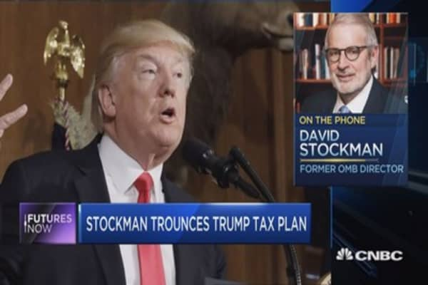 David Stockman: Trump's tax plan is 'dead on arrival' and Wall St. is 'delusional'