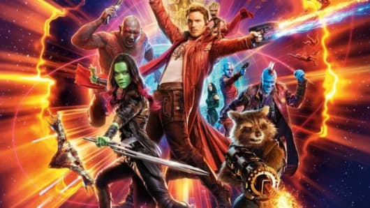 Movie poster for Disney and Marvel Studios' Guardians for the Galaxy Vol. 2.