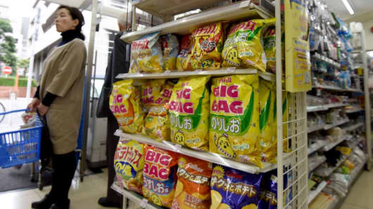 Japan is in the midst of a dire crisps shortage after violent typhoons wiped out potato crops in top tuber producing Hokkaido. The unprecedented series of storms last year has forced chipmakers Calbee and rival Koikeya to halt production of some of their most popular flavours -- including pizza and French salad.