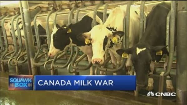 US in dairy war with Canada