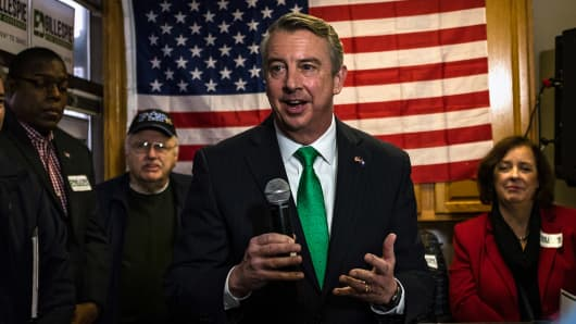 Former RNC chair and White House counselor Ed Gillespie kicks off his campaign for governor of Virginia in Chantilly, Virginia Saturday January 14, 2017.