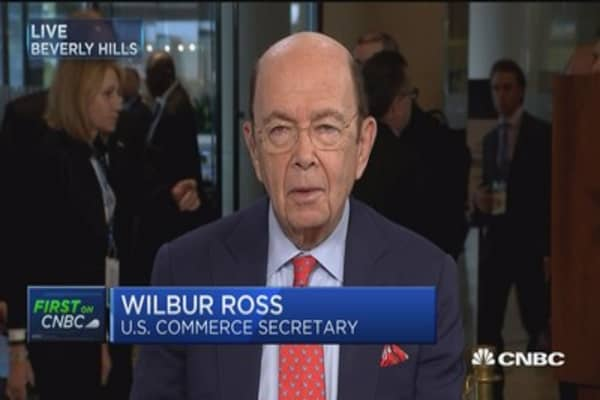 Wilbur Ross: US having 'parallel' discussions with China on trade and North Korea