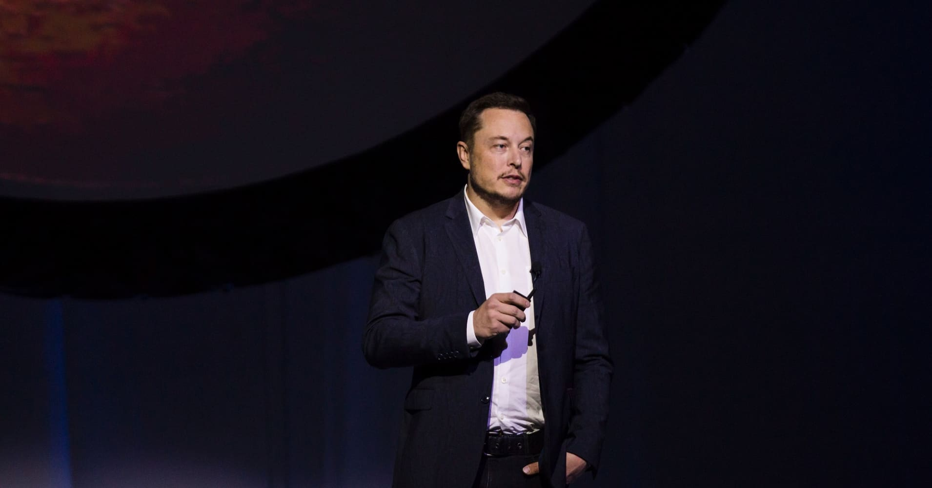 Tesla Motors CEO Elon Musk speaks about the Interplanetary Transport System which aims to reach Mars with the first human crew in history, in the conference he gave during the 67th International Astronautical Congress in Guadalajara, Mexico.