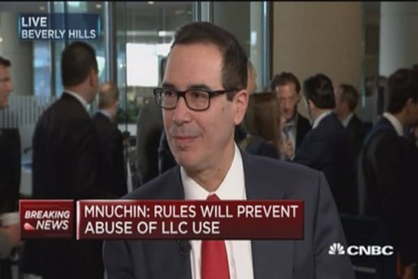 US Treasury Secretary Steven Mnuchin on eliminating the estate tax