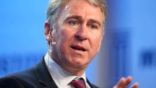 Ken Griffin, founder and Chief Executive Officer of Citadel, speaks during the Milken Institute Global Conference in Beverly Hills, California, May 1, 2017.
