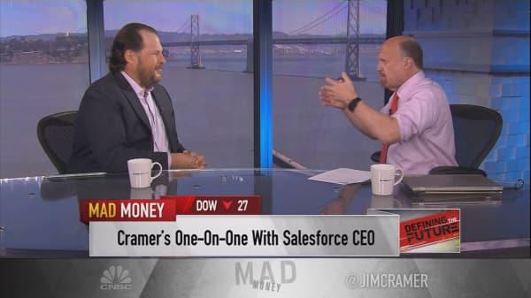 Salesforce CEO Marc Benioff dishes on his $400 billion job creation goal