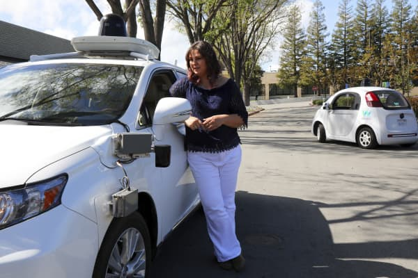 Aleksandra Faust, a software engineer for the self-driving car company Waymo, in Mountain View, Calif., March 21, 2017. Formerly known as Google's self-driving car project, Waymo wants to build autonomous vehicles that can react properly under all kinds of unusual circumstances.