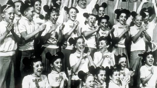 The original Mickey Mouse Club in 1955.