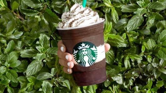 Starbucks' Midnight Mint Mocha Frappuccino