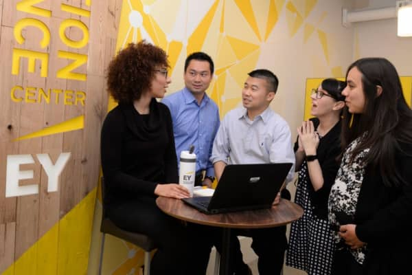 Millennial workers in EY's San Jose office. EY's U.S. workforce is now more than 66 percent millennial.