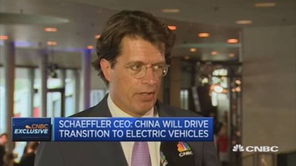 China will drive transition to electric vehicles: Schaeffler CEO