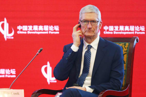 Apple CEO Tim Cook attends China Development Forum 2017 - Economic Summit at Diaoyutai State Guesthouse on March 18, 2017 in Beijing, China.