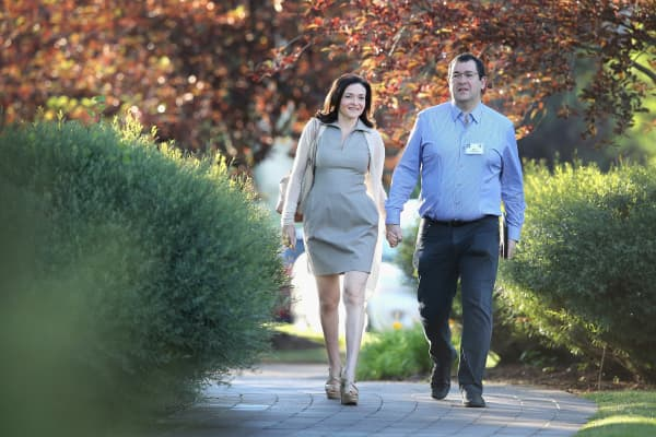Sheryl Sandberg and husband Dave Goldberg at the Allen & Company Sun Valley Conference in 2014