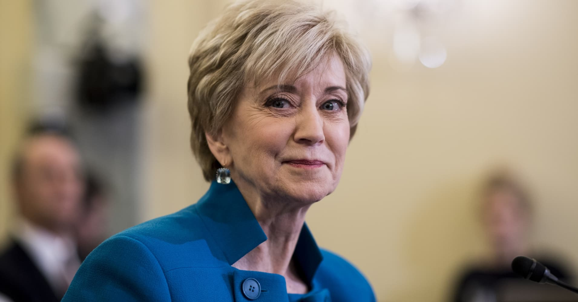 Linda McMahon, administrator of the Small Business Administration.