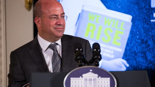 CNN Worldwide President Jeff Zucker, speaks before the screening of First Lady Michelle Obama's new CNN Film, We Will Rise: Michelle Obamas Mission to Educate Girls Around the World on October 11, 2016.