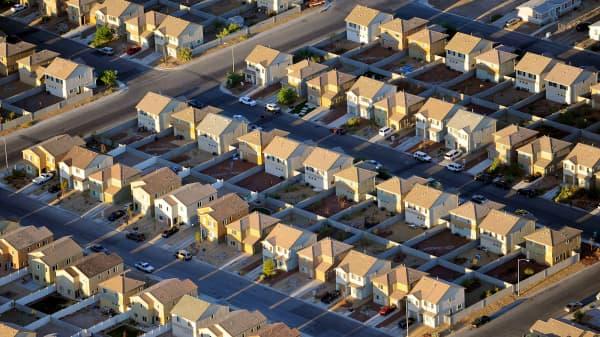 Rows of houses in Las Vegas.