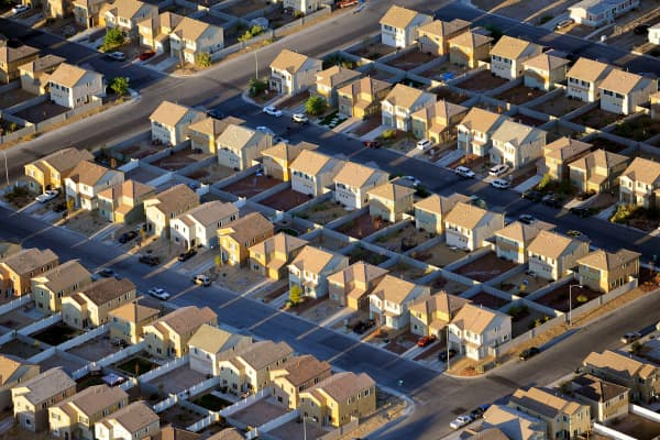 Rows of houses in Las Vegas.